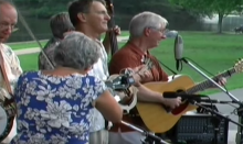 Annapolis Bluegrass playing outdoors
